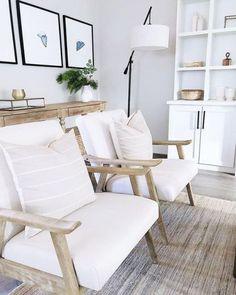 Seda y Nacar Home Living Room, Living Room Designs, Living Room Decor, Living Room With Chairs, Neutral Living Rooms, Kitchen Living, Living Room Inspiration, Home Decor Inspiration, The Design Files