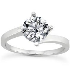 1/4 Carat Diamond Twist Engagement Ring