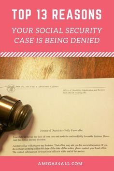 Find out why you are getting your social security claim denied. social security denial, ssi, ssdi, disability claims, social security