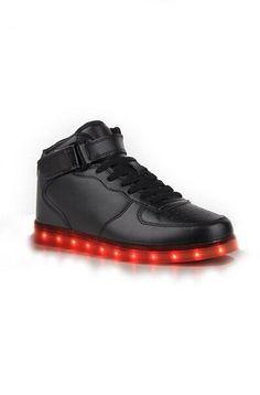 Grossiste Chaussure Lumineuse Montante Led Noir Pas Cher