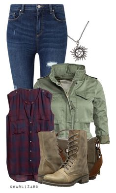 Supernatural by charlizard on Polyvore featuring polyvore fashion style H&M Denim & Supply by Ralph Lauren Miss Selfridge Steve Madden clothing
