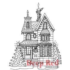 Deep Red Stamps Holiday House Rubber Stamp Deep Red Stamps http://www.amazon.com/dp/B00F9F9TBW/ref=cm_sw_r_pi_dp_oJwrub1SR5BZ6
