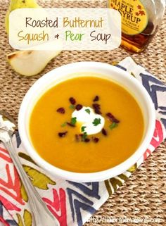 Roasted Butternut Squash and Pear Soup | Flavor the Moments