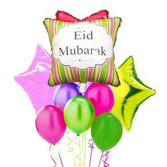 This large Eid Mubarak foil balloon can be spotted from a distance and will sure to add the joy of Eid to the atmosphere! Use it by itself or add other color balloons with it. 1 balloon per order Balloon comes uninflated Balloon's size when inflated is Eid Balloons, Order Balloons, Eid Banner, Balloon Banner, Eid Party, Ramadan Decorations, 1st Birthdays, Ballon, Etsy