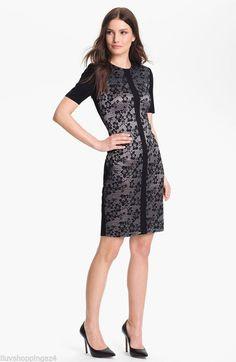 Misook Black Eliza Lace Front Short Work/Office Dress Size 2 (XS) off retail Office Dresses, Dresses For Work, Petite Women, Knit Jacket, Petite Dresses, Black Laces, Petite Fashion, Floral Lace, Sheath Dress