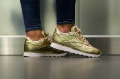 Is This Gold Reebok Classic Leather Shiny Enough?