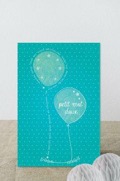 Carte de petits mots doux - Ca fait toujours plaisir : Cartes par suite-creative-babies