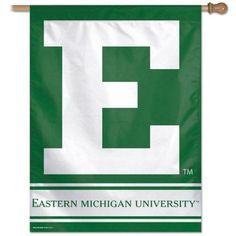 Eastern Michigan University Vertical Outdoor House Flag, Multicolor