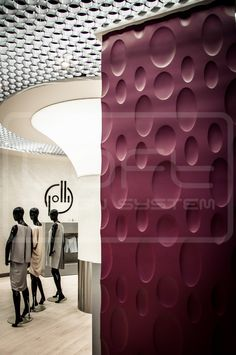 Decorative Panels 3D - Loft Design System - Model 4 - ELLIPSE. Three dimensional panels LOFTSYSTEM in the showroom of polish designers!!!