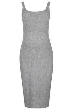MATERNITY Ribbed Midi Dress