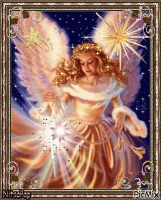 Christmas Angel - By: Dona Gelsinger Angel Images, Angel Pictures, Angel Gif, Angels Beauty, Angel Drawing, I Believe In Angels, Angels Among Us, Angels In Heaven, Oracle Cards