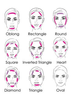 We already showed you some tutorials about contouring your face. Today I' ll teach you how to contour for your face shape. As you can see the pictures below there are pink and purple lines . …