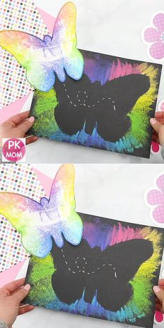 Butterfly art project for kids! Print this free butterfly template - craft - Butterfly art project for kids! Print out this free butterfly template Butterfly art project for ki - Spring Art Projects, Spring Crafts For Kids, Art Crafts For Kids, Art Project For Kids, Art Projects For Toddlers, Kid Art Projects, Simple Kids Crafts, Easy Art For Kids, Summer Camp Crafts