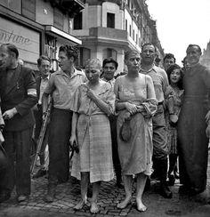 Con la caída de Adolfo Hitler las mujeres de sus soldados sufrieron todo tipo de humillaciones.
