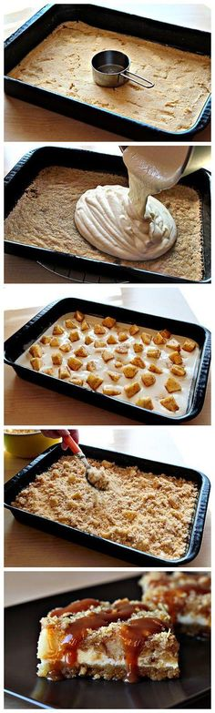 Caramel Apple Cheesecake Cookie Bars - Joybx