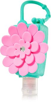 This is such a cute idea bath and body works hand sanitizer case pink flower