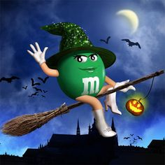 haloween witch green mm