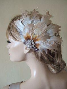 Gold Ivory Goose Nagoire Bridal Fascinator £40.00