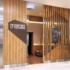CP Massage architectural shopfront and warm inviting interior designed and constructed by Suburban Design & Construct Interior Design And Graphic Design, Spa Design, Commercial Interior Design, Commercial Interiors, Partition Design, Facade Design, Door Design, Wall Design, Retail Facade