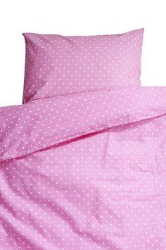 Farg Form Children Bedset with Spots (Pink)