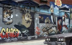 Murals and Graffiti in New York City in The Downtown New York, New York City, Graffiti, Street Art, Murals, New York, Wall Paintings, Mural Painting, Nyc