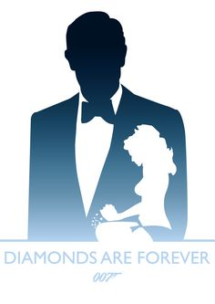 Diamonds Are Forever, James Bond by Phil Beverley, via Behance