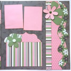 Blossom and Bloom Pre Made 2 Page 12x12 Scrapbook Layout