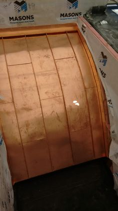 Copper curved roofing - Standing seam Copper, Brass