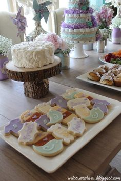 Shabby Chic Baby Shower Dessert Table