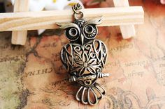 owl necklace,hollow out owl pendant,owl necklace---N018 #owl #necklace www.loveitsomuch.com