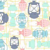 Spoonflower lamp fabric