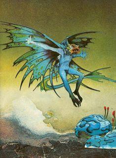 Roger Dean, Blue Demon, Science Fiction Monthly: Volume 3 (No. Baphomet, Cover Art, Art Science Fiction, Pulp Fiction, Sci Fi Kunst, Roger Dean, Arte Sci Fi, Rock Album Covers, 70s Sci Fi Art