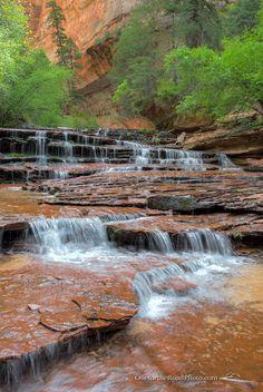 Arch Angel Falls - Zion National Park, Washington County, Utah