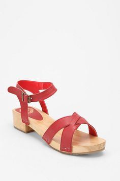 Ecote wood bottom sandal, on sale at UO for $19.99
