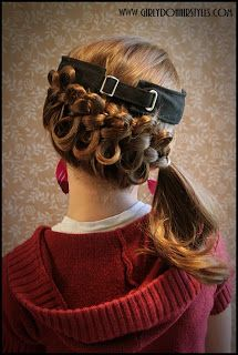 Bow braiding a side braid for dolling up hat/visor hairstyles... great idea!