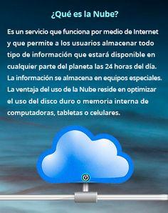 La Nube sirve para almacenar información.