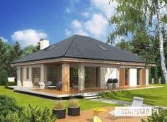Eris II (wersja C) - projekt domu - Archipelag 2 Storey House Design, Bungalow House Design, Modern House Design, Stone Driveway, Brick Architecture, Facade House, Design Case, Home Fashion, Home Projects