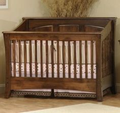 Carlisle Panel Crib Bedroom Cribs and Convertible Furniture - Amish Furniture - We have over 100 Solid American cherry and Oak Amish furniture items. Our store is located in the heart of Amish Country. Find custom quality furniture at affordable prices. Hardwood Furniture, Amish Furniture, Furniture Plans, Kids Furniture, Furniture Making, Furniture Design, Convertible Furniture, Convertible Crib, Nursery Crib