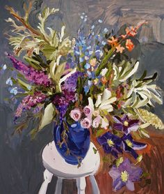 Laura Jones · Light is Fugitive - The Design Files Design Blog, The Design Files, Design Ideas, Illustrations, Illustration Art, Still Life Flowers, Still Life Art, Australian Artists, Beautiful Paintings