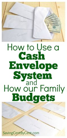 How to Use a Cash Envelope System & How Our Family Budgets - Saving Cent by Cent - Finance tips, saving money, budgeting planner Budget Envelopes, Cash Envelopes, Monthly Budget, Budget Planner, Monthly Expenses, Budgeting Finances, Budgeting Tips, Cash Envelope System, Thing 1