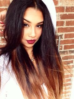 Two Tone Wig Silky Straight Ombre Lace Front Wig Human Hair Brazilian Virgin Hair Straight Ombre Lace Wig Dark Auburn Indian Hairstyles, Weave Hairstyles, Pretty Hairstyles, Straight Hairstyles, Winter Hairstyles, Love Hair, Gorgeous Hair, Indian Hair Weave, Curly Hair Styles