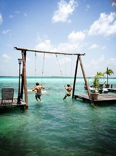 Double Sea Swings, The Bahamas Childhood revisited in an adult way. Ready to grab my passport.
