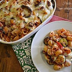Baked pasta with vegetables - This is the right recipe, if you have old pasta and grilled vegetables .