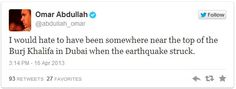 Its An Earthquake: Twitter Users Go Frenzy In Dubai