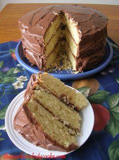 Homemade Yellow Cake w/ Chocolate Frosting