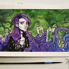Here's an advanced look at my video for tomorrow of today's Inktober. Amazing Drawings, Amazing Art, Art Drawings, Awesome, Spark Art, Witch Drawing, Different Art Styles, Art Inspo, Fantasy Art