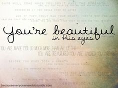 You're beautiful!!!