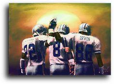Dallas Cowboys Dusk Sketch Card NFL Dallas Cowboys Signed Art Giclee Print