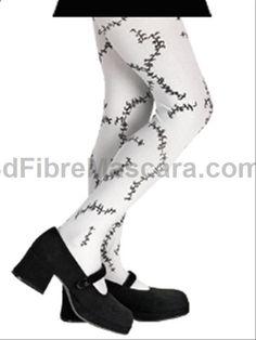 Stitched Zombie Childrens Pantyhose - These pantyhose are important if you want to keep the walking dead warm this Halloween. These are a 100% Nylon tights with black and grey stitches printed on them. They fit to size 12 and should be a great finishing touch to a lot of costumes. These would be especially awesome on a Bride of Frankenstein, Walking Dead zombie, Living Dead Doll or any dead celebrity costume this Halloween. #zombie #yyc #costume #legwear #pantyhose #sexy #ladies #women…