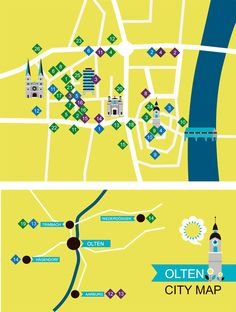 illustrated map for olten by Jamie Oliver Aspinall, via Behance